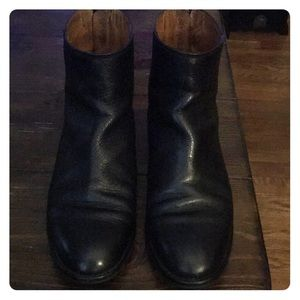 Madewell Black ankle Moto boots, Size 8